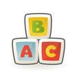 baby cubes building blocks early educational toy vector image