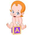 baon alphabet cube vector image