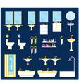 Bathroom equipment set vector image
