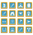 blacksmith icons azure vector image vector image