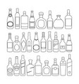bottles graphic black line white background sketch vector image