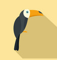 brazilian toucan icon flat style vector image vector image