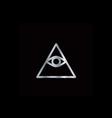 Cao dai Eye of Providence- Religious icon vector image