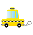 Cartoon car taxi vector image vector image