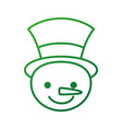 christmas snowman cartoon smile character winter vector image