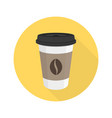 coffee flat icon vector image vector image