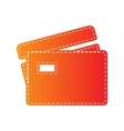Credit Card sign Orange applique isolated vector image vector image