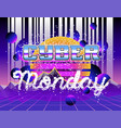 cyber monday advertising poster vector image