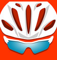 cyclist helmet with glasses vector image vector image