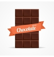 Dark Chocolate Bar Open vector image vector image