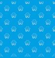 defibrillator pattern seamless blue vector image vector image