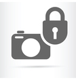 digital camera security icon vector image vector image