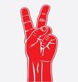 Dva prsta crvena resize vector image vector image