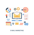 e-mail marketing campaign flat vector image vector image