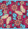 ecorative pattern with floral ornament and vector image vector image