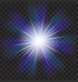 eps10 transparent sunlight special lens flare vector image