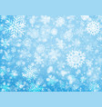 falling snow christmas and new year background vector image vector image