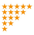 five star rating icon isolated on white background vector image