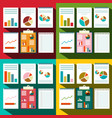 flat design paperwork background with graphs and vector image vector image