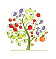 Fruit tree for your design vector image vector image
