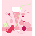 glass of cherry juice vector image