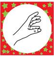 hand gesture grabbing vector image vector image