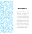 handmade line pattern concept vector image vector image