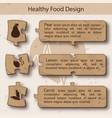 healthy food concept puzzle design vector image vector image