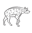 hyena standing outlined vector image