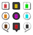 icon logo for set symbols suitcase vector image vector image