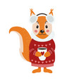 isolated cute squirrel vector image