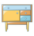 kids bedside table icon cartoon style vector image vector image