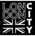 London City t shirt 3 vector image vector image