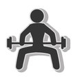 Male weights gym vector image vector image