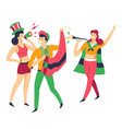man and women sport fans buffs or rooters cheering vector image vector image