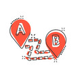 map pin icon in comic style gps navigation vector image vector image
