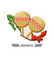 mexican symbol musical maracas vector image