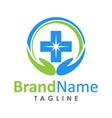 modern health care logo creative concept vector image vector image