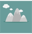 Mountain and clouds Template Flat design style vector image