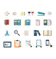 office and business work supplies set document vector image