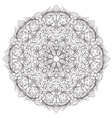 ornamental round pattern vector image vector image