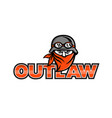 outlaw biker angry mascot vector image vector image