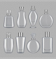 perfumes for male and female various bottles of vector image vector image