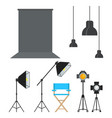 photo stugio equipment vector image