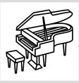 piano music instrument icon and vector image vector image