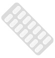 Pills blister pack vector image vector image