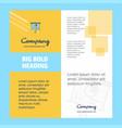 presentation board company brochure title page vector image vector image