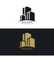 real estate logo design concept design vector image vector image