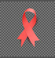 red silky ribbon for aids awareness month december vector image vector image