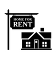Rent house simple icon vector image